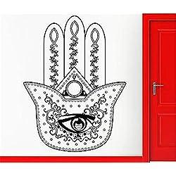 Vinyl Decal Quote Art Wall Sticker Mirror Decal Hamsa Amulet Talisman Cool Living Room