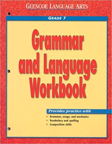 Amazon glencoe language arts grammar and language workbook glencoe language arts grammar and language workbook grade 7 1st edition fandeluxe Image collections