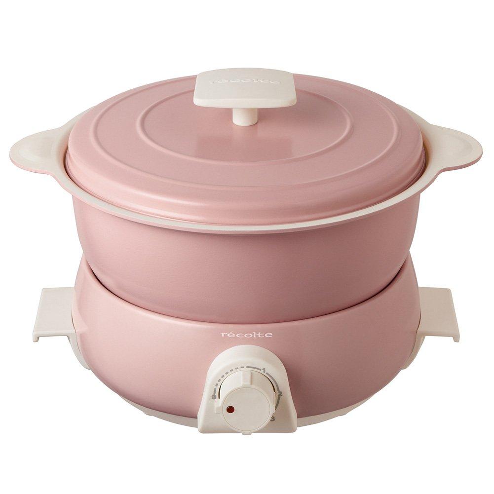 Recolte Pot Duo fête Electric pot Multi Cooker (Limited Color Pink)【Japan Domestic genuine products】