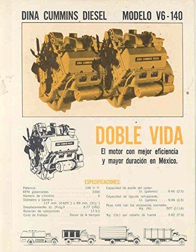 1974 Dina Cummins Diesel Truck Engine Brochure Mexico (1974 Cummins Engines)