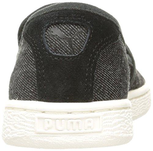 Cestino classico Slip on Denim Fashion Sneaker, Puma Black, 5 M US