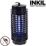 Inkil IG104216 - Lampada anti-zanzare elettrica, a luce UVA, senza sostanze chimiche, per un'area di 32 m², a cilindro, 4 W, 220 V, colore: nero