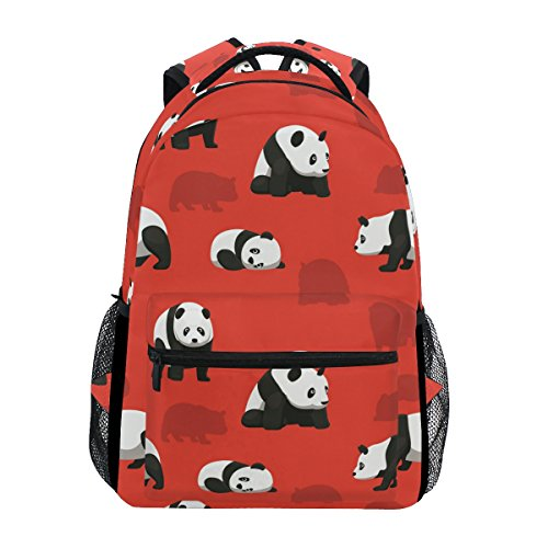 Bear Panda Red Fantasy Backpack School Bag Travel Daypack ()