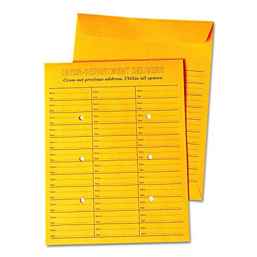 Universal 63570 Interoffice Press & Seal Envelope, 10 x 13, Brown (Box of ()