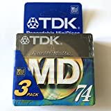 TDK Recordable MiniDisc MD 74 - MD-XG74-3 Pack