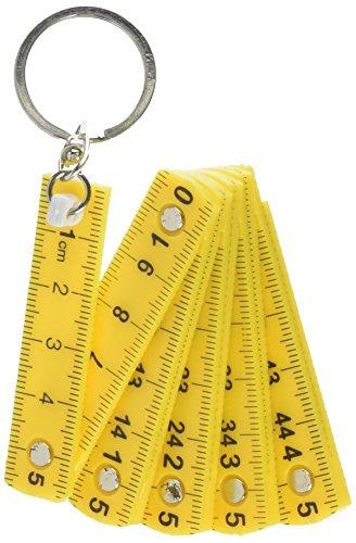 (Kikkerland KRL46-A Mini Folding Ruler Keyring, Assorted,)