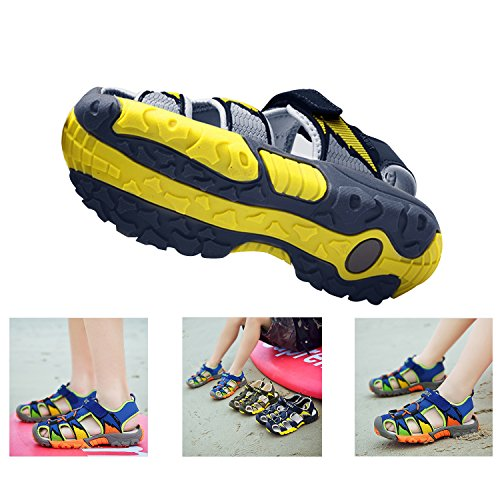 867b55e97e69b Bigcount Boys Girls Outdoor Sport Closed-Toe Sandals Kids Breathable Mesh  Water Athletic Sandals Shoes