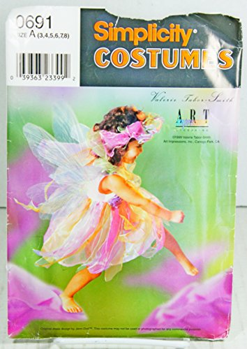 Simplicity Sewing Pattern #0691 Childs Fairy Princess Halloween Costume ()