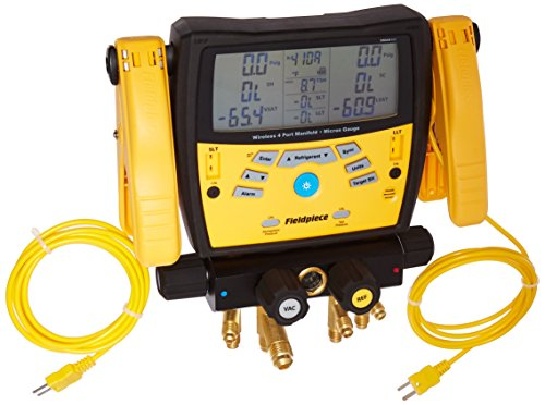 - Fieldpiece SMAN460 Wireless 4-Port Digital Manifold with Micron Gauge
