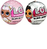LOL Surprise Dolls Deluxe Bundle - 1 Bling and 1 Glam Glitter
