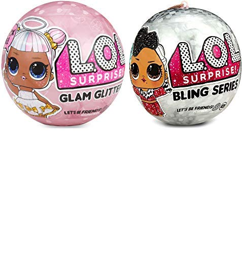 LOL Surprise Dolls Deluxe Bundle - 1 Bling and 1 Glam Glitter ()