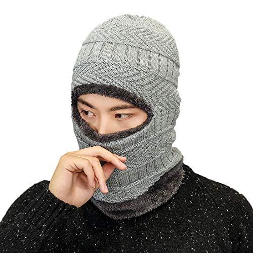 Boomly Esquí Aire Sombrero Deportes Calentar Al De Beanie Invierno Sombrero De Libre Hombres Gris Punto Gorros PwxqSrPUO