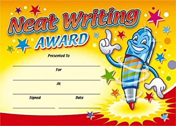 Certificates neat writing award amazon office products certificates neat writing award yadclub Gallery
