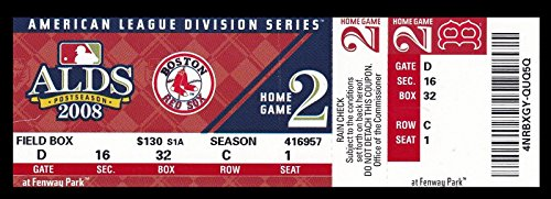 2008 ALDS Full Ticket Angels (2) @ Red Sox (3) Clincher 27642