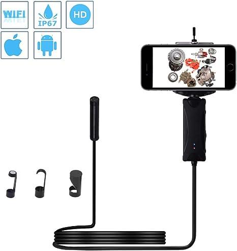 "2.4/"" Endoscope Inspection Camera with 5.5mm Micro Snake Camera Hi-Vision IP67 UK"