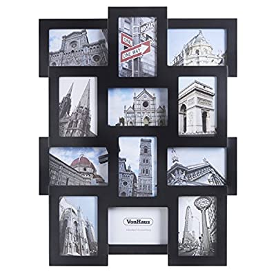 VonHaus 12 x Collage Picture Frames for Multiple 4x6 inch Photos - Wooden Photo Frame