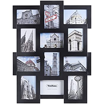 Amazon.com - Adeco 12 Openings Black Decroative Wall Hanging Collage ...
