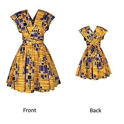 Women's Boho Flowy Party Dress Front Cross Deep V-Neck Swing Dress Wrap Floral Casual Work Party A-Line Dress S-XL: Clothing