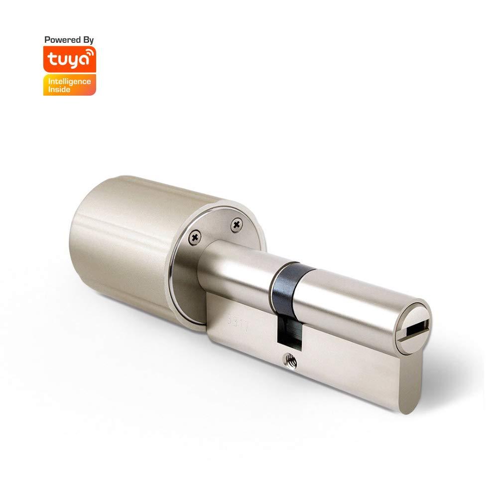 Smart Door Lock Core para Control de Seguridad en el hogar con Clave práctica de la aplicación para teléfonos celulares (Tuya 120-75 Size 45)