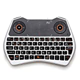 Rii i28W Mini i28 2.4 GHz Wireless Remote Mouse Voice Keyboard for Laptop, PC, Smart TV, White