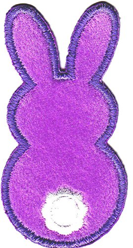 SET OF 2 RABBITS-LAVENDER BUNNY BACKS-Iron On Embroidered Applique/ Cute Critter