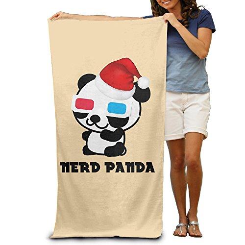 [LCYC Nerd Panda Christmas Day Adult Vibrant Beach Or Pool Bath Towel 80cm*130cm] (Monster High Costumes Walmart)