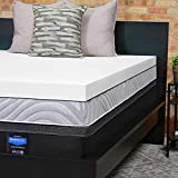 Firm Foam Mattress Topper Sealy Essentials 3-Inch Firm Support Foam Mattress Topper Washable Cover, 5 YR Warranty, Queen