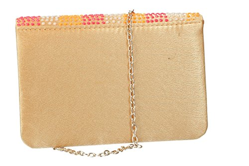 button VN2406 opening Clutch gold VENTURI elegant GIANMARCO ceremony bag woman r0Cqra
