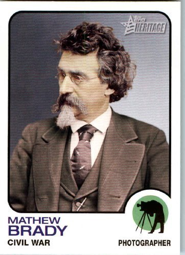 2009 Topps American Heritage Baseball Cards # 68 Mathew Brady (Photographer Civil War)(Artist) Trading Card - Mathews Baseball Card