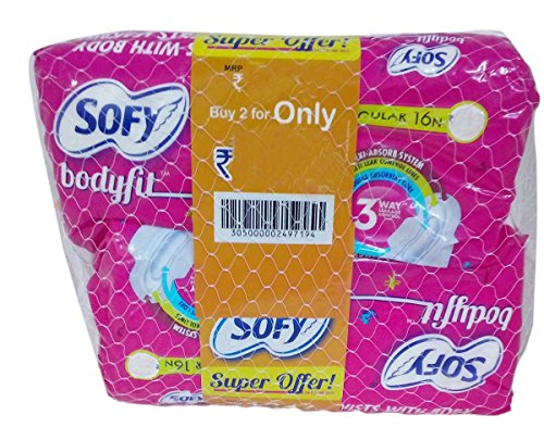 Sofy Sanitary Pads – Regular Body Fit, 2×16 Pieces Combo Pack