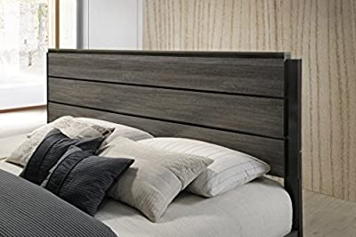Roundhill Furniture Ioana 187 Antique Grey Finish Wood King Size Bed-P by Roundhill Furniture