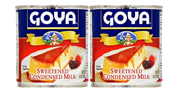 Amazon.com : Goya Sweetened Condensed Milk 14oz | Leche Condensada Azucarada (Pack of 02) : Grocery & Gourmet Food