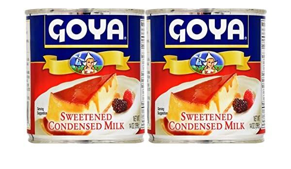 Amazon.com : Goya Sweetened Condensed Milk 14oz | Leche Condensada Azucarada (Pack of 02) : Grocery & Gourmet Food
