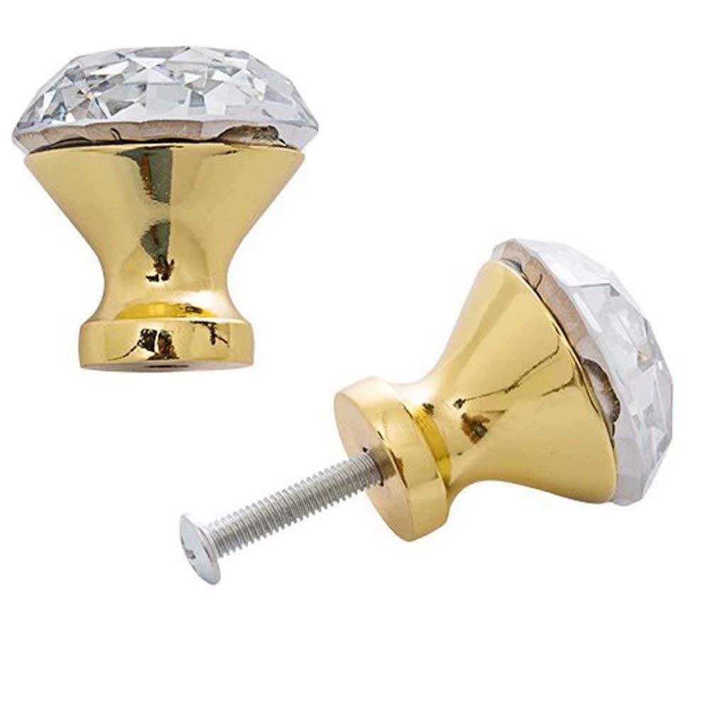 cassettiere 30 mm 12 PCS Frolahouse Pomelli in Cristallo per armadietti credenze e cassetti