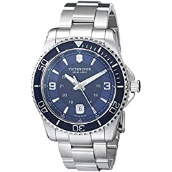 Victorinox Men's 241602 Maverick Stainless Steel Bracelet Watch with Blue Dial