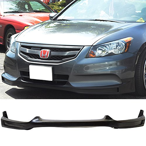 2011-2012 Honda Accord Sedan 4DR Black Poly Urethane Front Bumper Lip Spoiler Bodykits ()