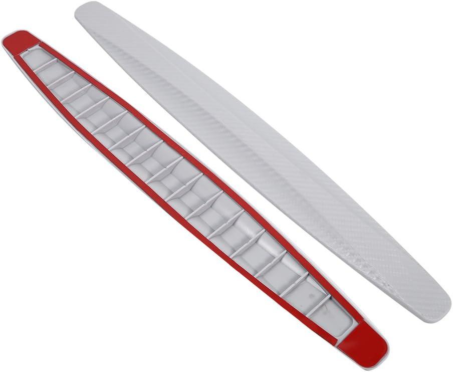 blanc 1 paire dautocollant anti-rayures pour coin de pare-chocs avant et arri/ère en fibre de carbone Protecteur de pare-chocs