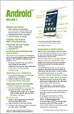 Android Version 7 Quick Reference Guide for Phones and Tablets (Cheat Sheet of Instructions, Tips & Shortcuts - Laminated Guide)
