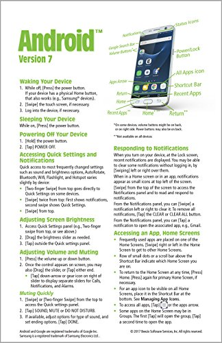 Android Version 7 Quick Reference Guide for Phones and Tablets (Cheat Sheet of Instructions, Tips & Shortcuts...