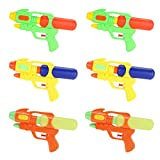 Fun-Here Water Guns 23cm 6 Packs for Kids Adults Multicolor Squirt Gun in Party Pool Bath Favors Indoor Outdoor Funy Summer Toy(Pack of 6)