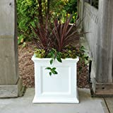 Mayne 5825W Fairfield Patio Planter, White, 20-Inch