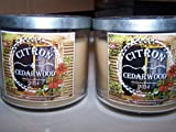 Bath & Body Works Lot of 2 Provence Collection Citron Cedarwood 3 Wick Scented Candle with Lid 14.5 Oz Each (Scented)