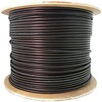 12 Fiber Indoor/Outdoor Fiber Optic Cable, Multimode 50/125 OM3, Plenum Rated, Black, Spool, 1000ft