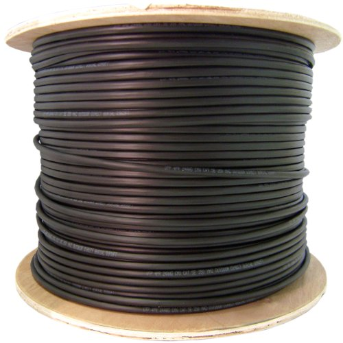 6 Fiber Indoor/Outdoor Fiber Optic Cable, Multimode 62.5/125, Plenum Rated, Black, Spool, 1000ft
