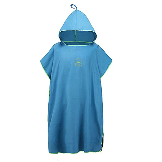 Homeself Microfiber Surf Changing Towel Poncho Robe With Hood, Hooded Bath Robe Towel Wetsuit for...