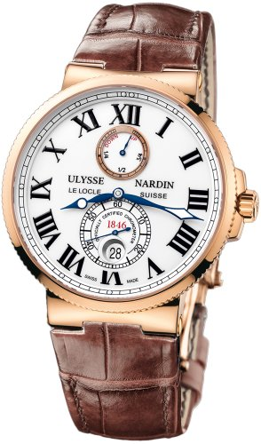 MENS-ULYSSE-NARDIN-MARINE-CHRONOMETER-18K-ROSE-GOLD-43MM-WATCH-266-6740