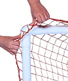 Park & Sun Sports Bungee-Slip-Net Replacement Nylon Goal Net: Soccer/Multi-Sport Goal, Orange, 8' W x 6' H x 4' D