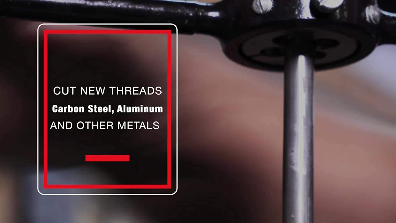 Drill America m19 X 1.25 1-1//2 OD High Speed Steel Round Adjustable Die DWT Series