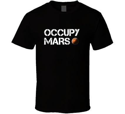 de316049ee5d7 Occupy Mars Space Planet T Shirt