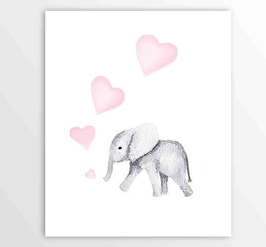 amazon com nursery wall art pink girls art baby girl animal rh amazon com